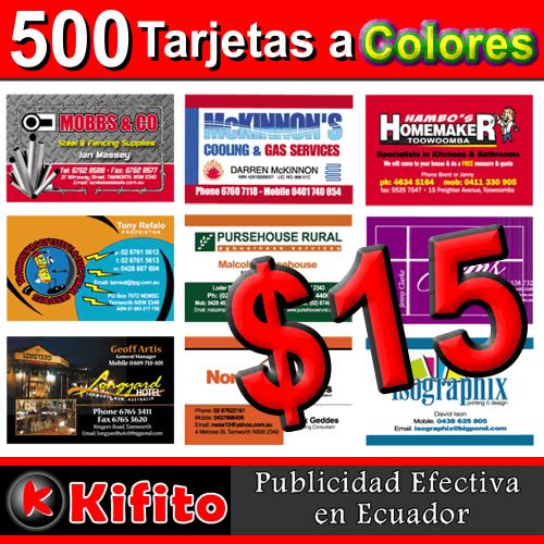 ima 500 tarjetas de presentacion a color en Ecuador2